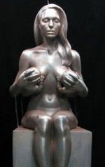 Angelina Jolie Breast Feeding Sculpture