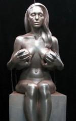 Angelina Jolie Breast Feeding Sculpture