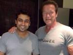 Tamil Superstar Surya Meets His Fitness Idol Arnold