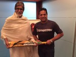 Chris Gayle Gifts His Bat Legend Actor Amitabh Bachchan