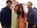 Nazriya Nazim Fahadh Faasil With Dulquer Salmaan Family