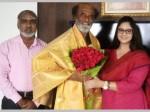 Congress Leader Nagma Meets Rajinikanth In Chennai