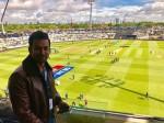 Prithviraj Watching Champions Tropy At England
