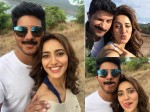 Neha Sharma Cute Selfies With Dulquer Salmaan From Solo Location