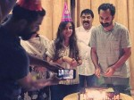 In Pic Fahadh Faasil Celebrates Birthday With Wife Nazriya Nazim