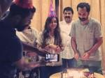 In Pic Fahadh Faasil Celebrates Birthday With Wife Nazriya Nazim