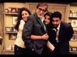 Aishwarya Rai Shweta Nanda Give Tight Hug To Amitabh Bachchan