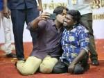 Vijay Sethupathi Kisses Fans While Taking Selfie