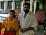 Samyuktha Varma Biju Menon And Vishal Visited Guruvayoor Temple