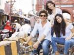 Zero Shah Rukh Khan Katrina Kaif Anushka Sharma Enjoy Cycle Rikckshaw Ride