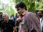 Nick Ut Visits Mohanlal On The Sets Of Odiyan