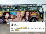 This Kerala Bus With Adult Film Stars Painted Over It Leaves Netizens In Splits