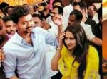 Vijay Wife At Pondicherry Wedding Reception
