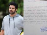 Prabhas S Fan Suicide Letter