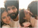 Mira Rajput Kapoor Shahid Kapoor Share Passionate Kiss On Diwali
