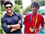 Actor Madhvan Son Wins National School Games