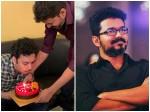 Thalapathy Vijay Surprises Nasser S Son Faizal On Birthday