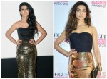 In Pics Priya Prakash Varrier Copies Deepika Padukone S Gold And Black Look From 7 Years Back