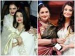 Rekha Showers Aishwarya Rai Bachchan With Love Kisses