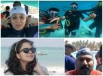 Tini Tom Anju Joseph Scuba Diving Lakshadweep Video Viral