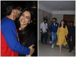 Ranveer Singh Kisses Wife Deepika Ranbir Kapoor Alia Bhatt Walk Out Together Post Gully Boy