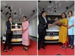 Actress Nimisha Sajayan Bought New Benz Car