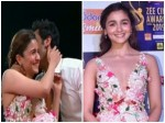 Alia Bhatt Ranbir Kapoor Share An Awkward Kiss At Award Sho