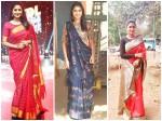 Actress Kaniha Shares Her Saree Picture