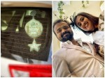 Kuchacko Boban Is Happy With Baby On Board Notice In His Car