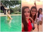 Kriti Sanon Chills With Soul Sisters In Goa Enjoys Games In Pool And Walk On Beach