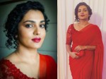 Parvathy Looking Absolutely Stunning In Red Saree