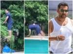 Salman Khan S Pool Stunt Video Viral