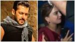 Salman Khan Gets Irritated When Girl Fan