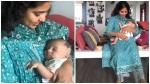 Actress Srinda Shares A Picture With Soubin Shahir S Son