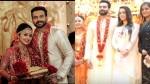 Bhavana And Other Celebrities Attends Hemanth S Wedding Reception