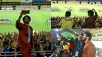 Dulquer Salmaan S Celebration With Kerala Blasters Fans