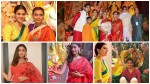 Amitabh Bachchan Priyanka Chopra Rani Mukerji Kajol Celebrate Durga Pooja