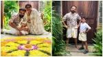 താരപുത്രന്റെ ആദ്യ ഓണം, തന്റെ വീട്ടിലെ ഷോ മാനെ പരിചയപ്പെടുത്തി കുഞ്ചാക്കോ ബോബന്