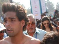 Deepika and Siddharth Mallya in mumbai marathon