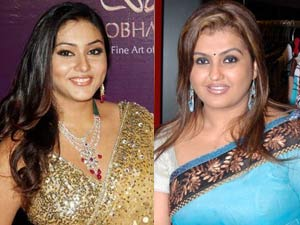 Namitha and Sona