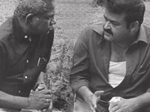 Shaji N Karun and Mohanlal
