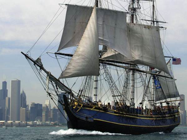 The ship starred in Hollywood blockbusters Mutiny on the Bounty and Pirates of the Caribbean: Dead Man's Chest.