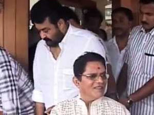 Mohanlal paid a visit to Jagathy Sreekumar