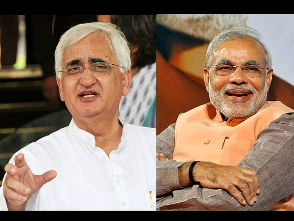 Salman Khurshid and Narendra Modi