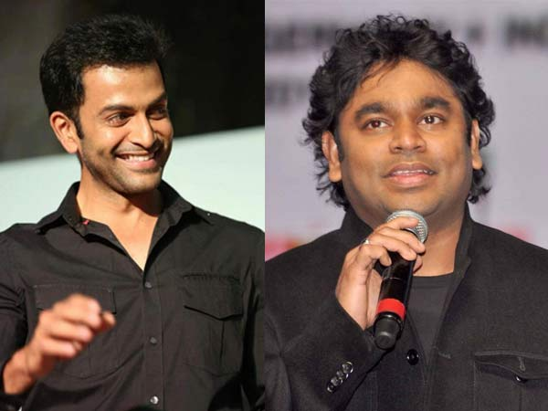 Prithviraj and AR Rahman