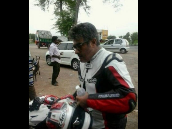 Ajith On Bike