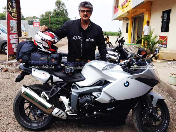 Ajith's rides bike from Pune to Chennai