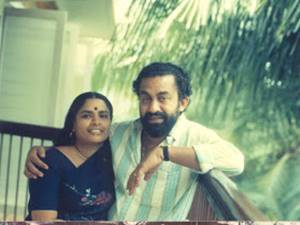 Padmarajan with his wife