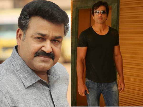 Sonu Sood and Mohanlal