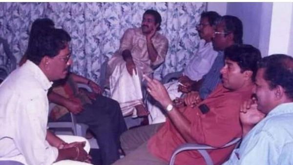 മോഹൻലാലിനും മമ്മൂട്ടിയ്ക്കുമൊപ്പം  മുരളിയും പ്രിയദർശനും, താരങ്ങളുടെ അപൂർവ ചിത്രം വൈറലാകുന്നു